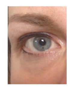 Uitsnede permanente oogmake-up